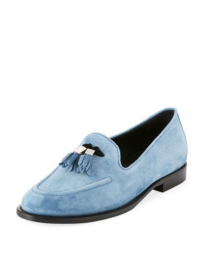 Giuseppe Zanotti Men's Suede Tassel Loafer In Blue
