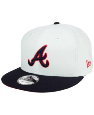 hot sales 84492 669de New Era Atlanta Braves All Shades 9Fifty Snapback Cap In White Navy