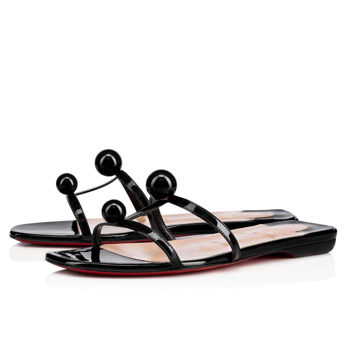 0863c04d1b2a Christian Louboutin Atonetta Embellished Patent-Leather Slides In ...