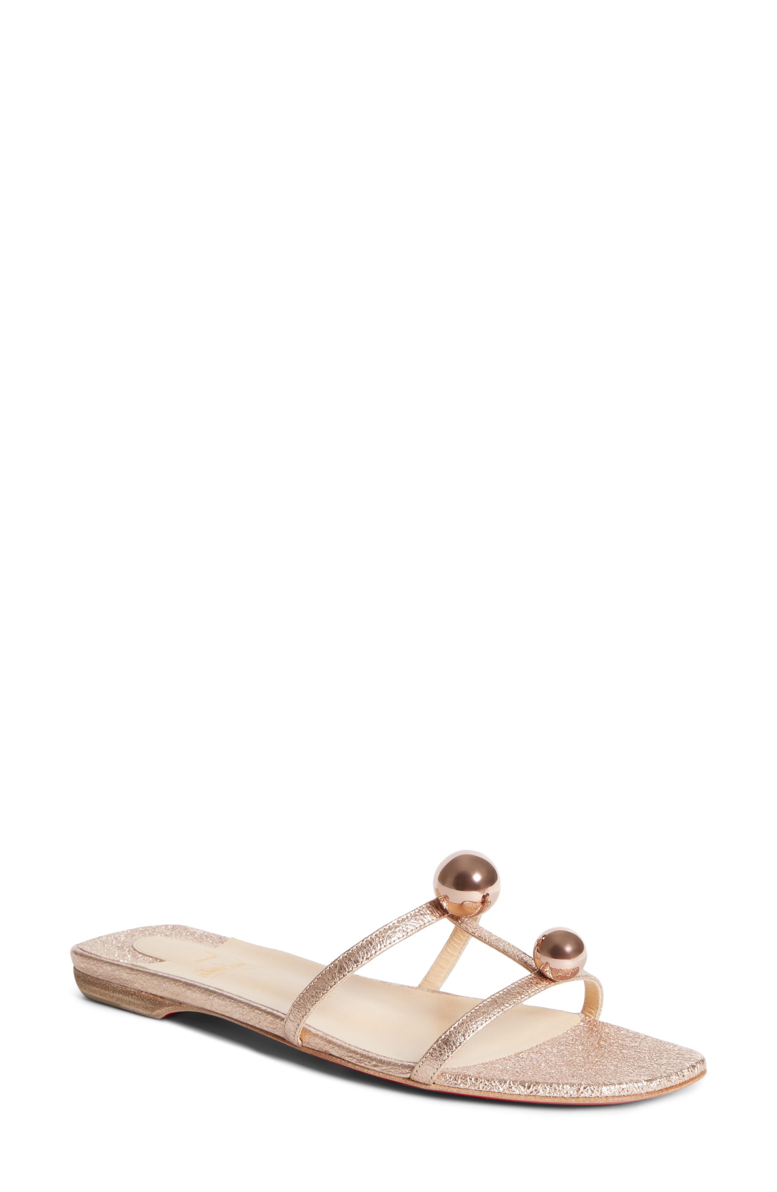 1149fb833e61 Christian Louboutin Atonetta Ornament Slide Sandal In Rose Gold ...