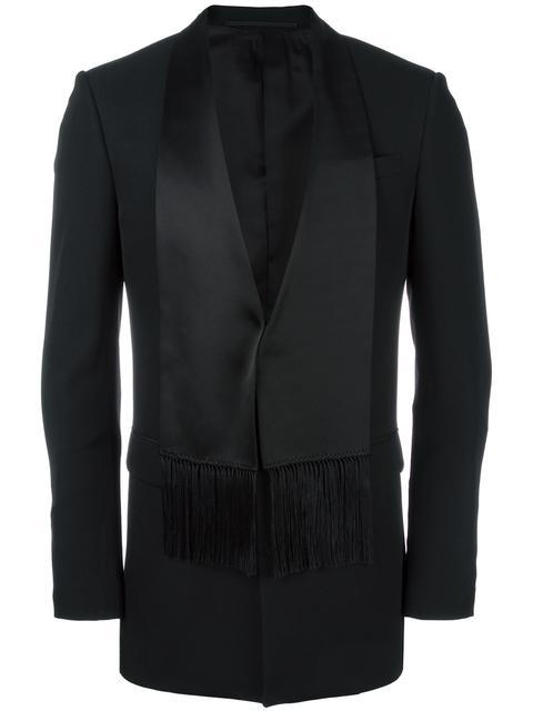 Givenchy Silk Satin Scarf Grain De Poudre Jacket In Black