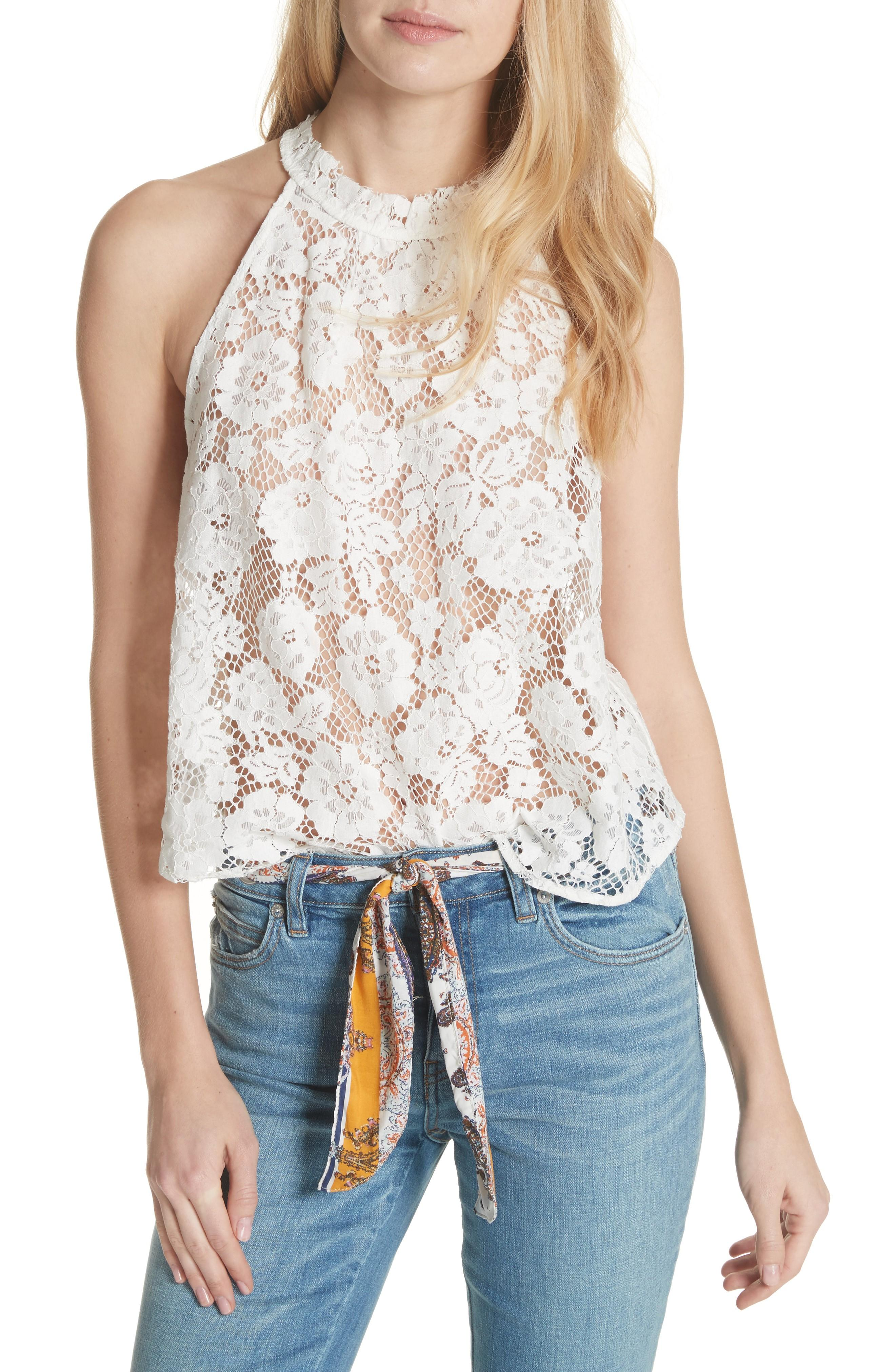 1e5a44be954 Sweet Meadow Dreams Lace Top in Ivory