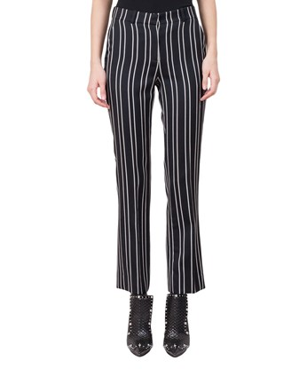 Givenchy Striped Slim-fit Wool Trousers In Black