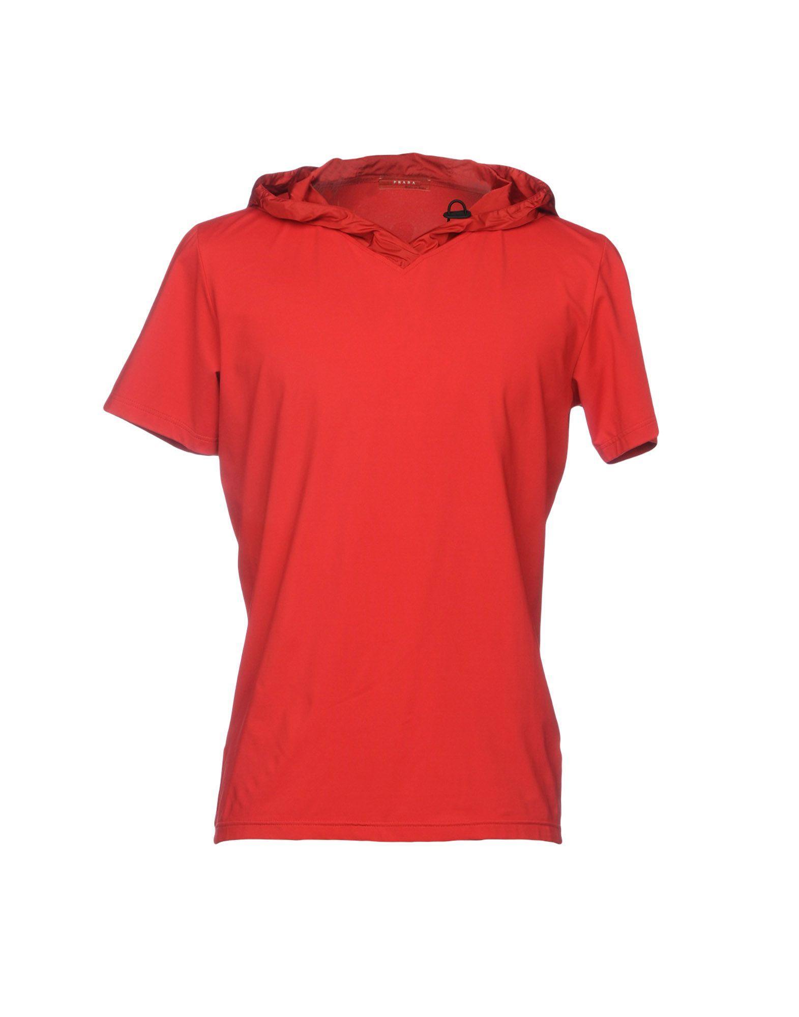 15d28ce48 Prada T-Shirts In Red | ModeSens