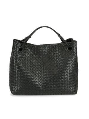 Bottega Veneta Medium Intrecciato Shoulder Bag, Black