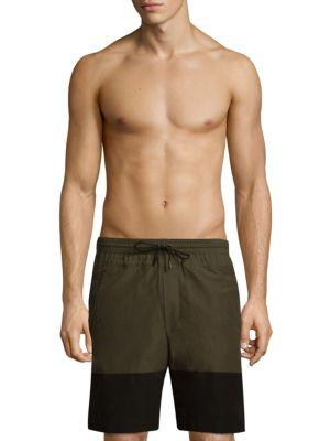87f40b3cbc Public School Quint Swim Shorts In Olive Black | ModeSens