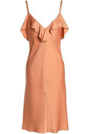 A.L.C Woman Ruffled Crepe De Chine Dress Pink