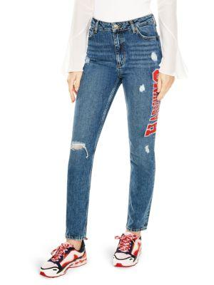 49545227f Sandro Hortense Distressed Happening Jeans In Blue. SIZE & FIT INFORMATION