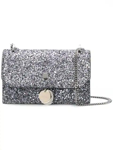9c8860a4f3d Jimmy Choo Small Finley Star Glitter Shoulder Bag - Grey | ModeSens