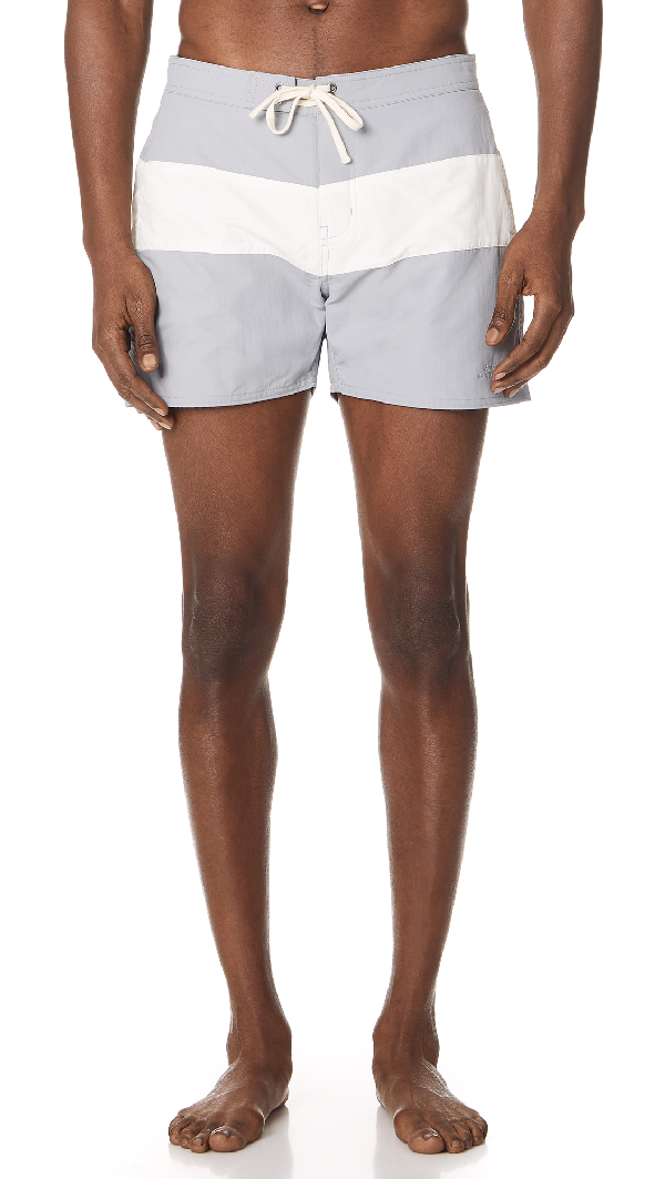 ed2cc36087 Saturdays Surf Nyc Grant Board Shorts In Stone Blue/White | ModeSens