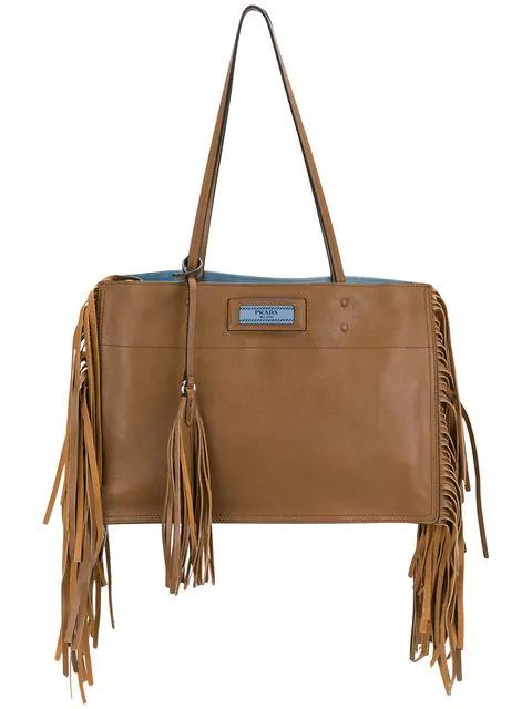 3c4b46623696 Prada Etiquette Tote Bag - Brown | ModeSens