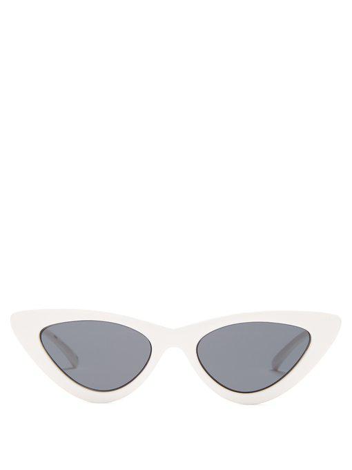 6d9534686f5 Le Specs - The Last Lolita Cat Eye Sunglasses - Womens - White Black ...
