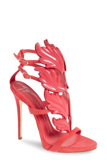 9e47c25c8e877 Giuseppe Zanotti Coline Cruel Wing High Heel Sandals In Pink | ModeSens