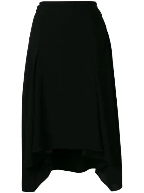 89ed2bdb18 Sonia Rykiel Asymmetric Crepe Midi Skirt In Black | ModeSens