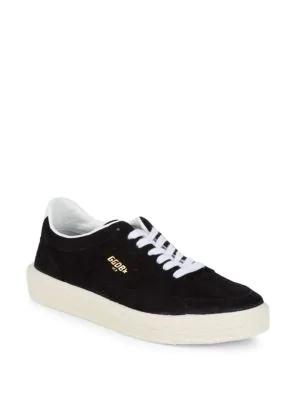 Golden Goose Suede Low-Top Sneakers In Black