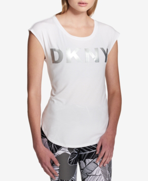 Dkny Sport Logo Graphic Top In White