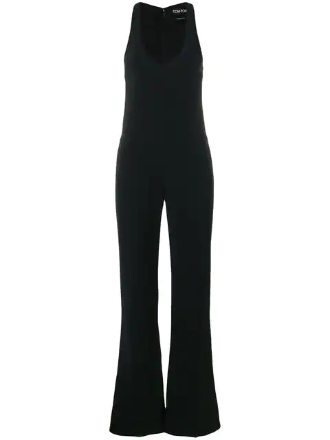 c009e21b8b13 Tom Ford Flared Skinny-Fit Jumpsuit In Black