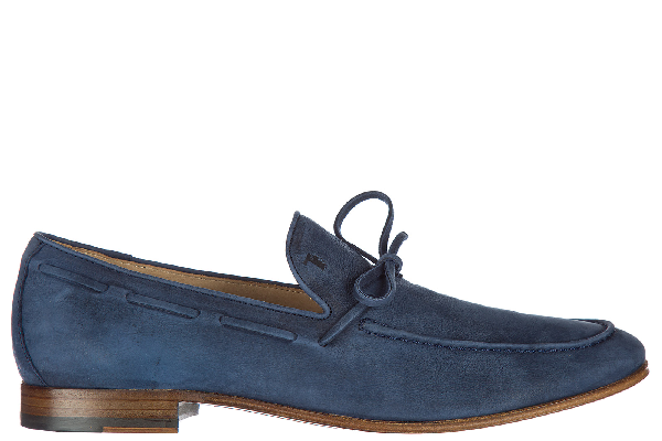 Tod's Men's Leather Loafers Moccasins  Laccetto In Navy
