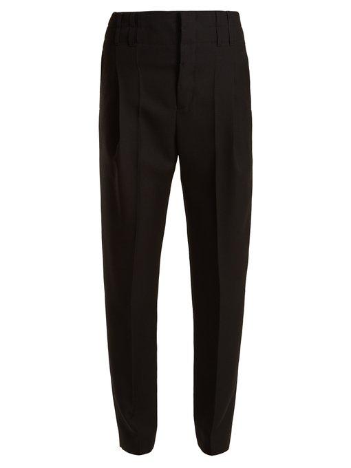 Haider Ackermann High-Rise Wool Trousers In Black