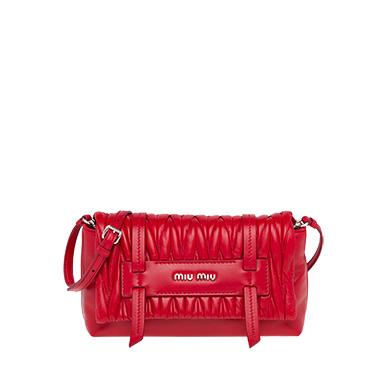 c5c4bcb168bf Miu Miu Matelasse Leather Convertible Clutch In Red