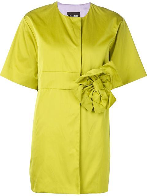Boutique Moschino 리본 아플리케 오버사이즈 재킷