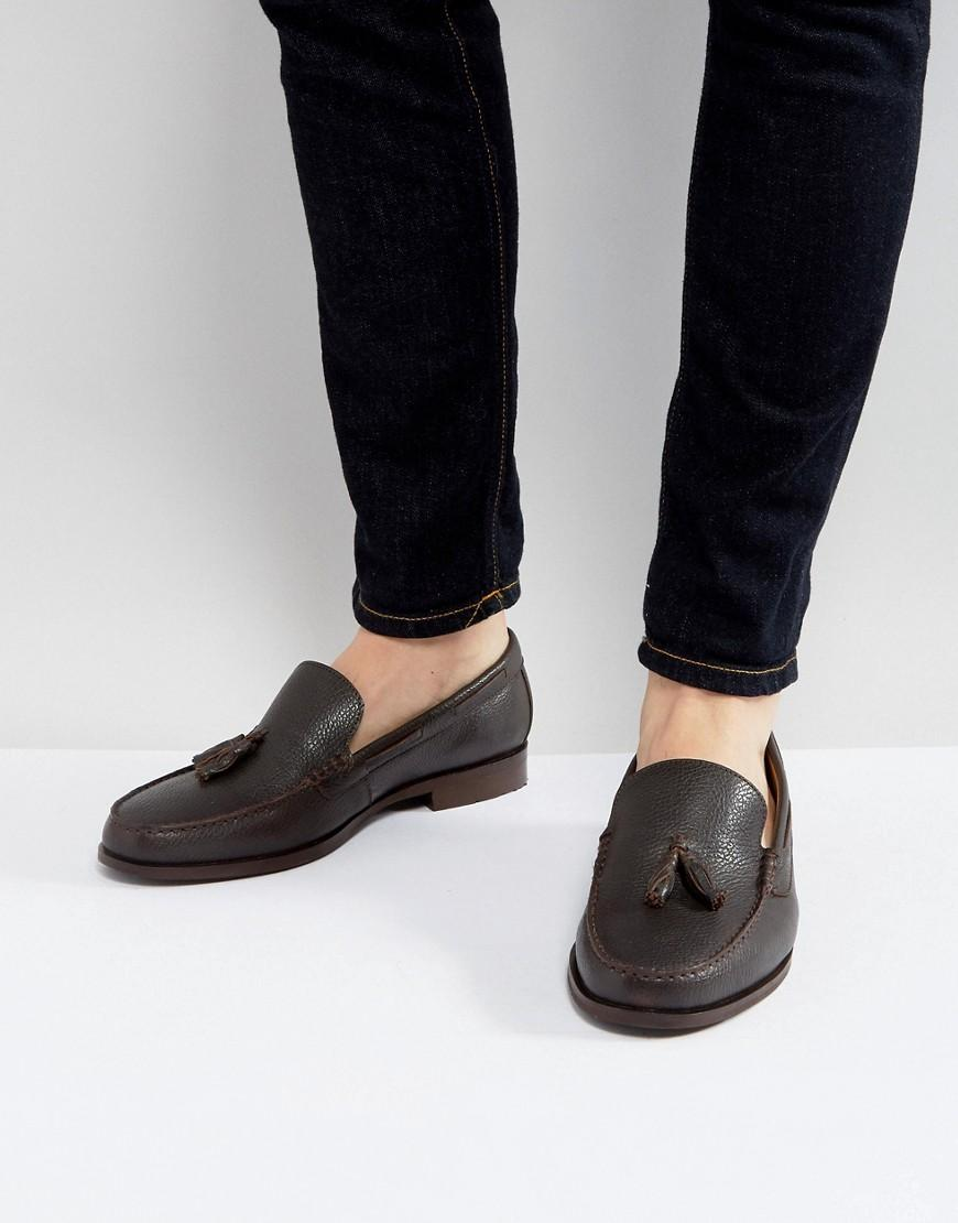 f3743a68dde Tassel Loafers In Brown Leather - Brown