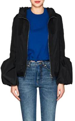 Moncler Fume Long Sleeve Poof Jacket W Hood In Black   ModeSens