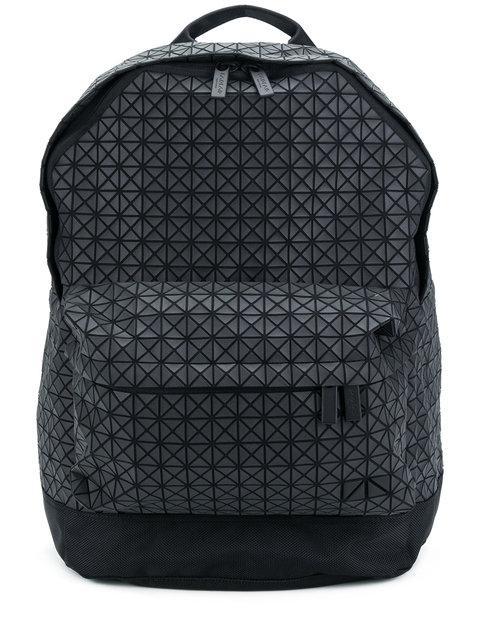 Issey Miyake Rucksack Mit Geometrischem Muster In Black