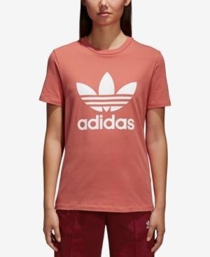 088223cab4c Adidas Originals Adidas Trefoil Tee In Pink & Purple | ModeSens