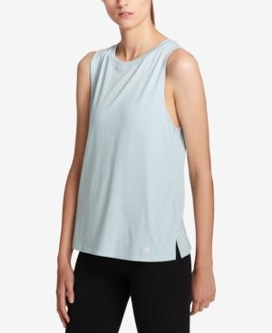 Tommy Hilfiger Sport Metallic-Graphic Muscle Tank Top, Created For Macy's In Seafoam