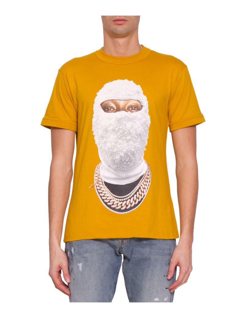 Ih Nom Uh Nit Printed Face Cotton T-Shirt In Giallo