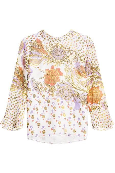 Peter Pilotto Printed Silk Blouse In Florals