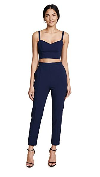 95faabebb831 Black Halo Mayka Two Piece Jumpsuit In Pacific Blue
