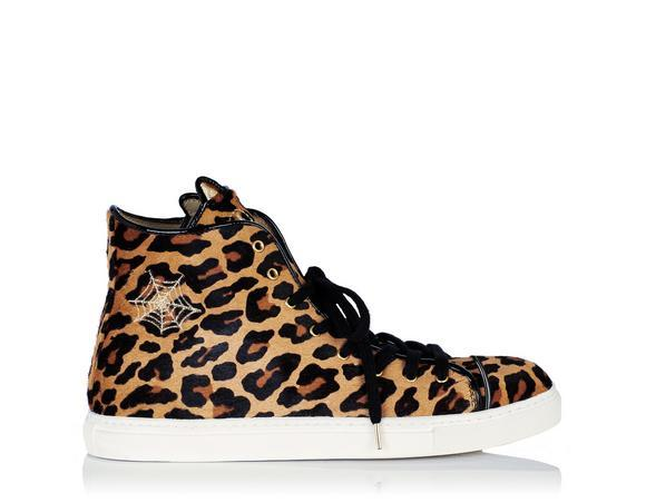 0bdd1466f8dc Charlotte Olympia Purrrfect Cat-Embroidered Leopard Calf Hair Sneakers In Animal  Print