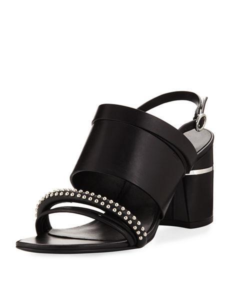 869abb47b6e 3.1 Phillip Lim Drum Studded Leather Slingback Sandals In Black ...