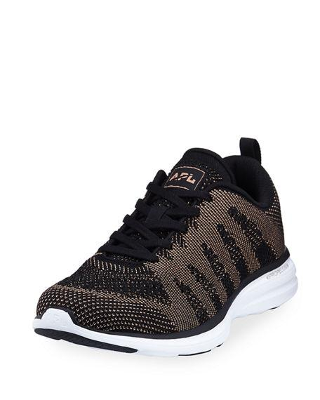 9a550518843a APL ATHLETIC PROPULSION LABS. Athletic Propulsion Labs Women s Techloom Pro  Knit Lace Up Sneakers in Black  Rose Gold