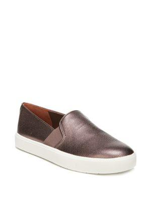 Vince 'Blair 12' Leather Slip-On Sneaker In Copper