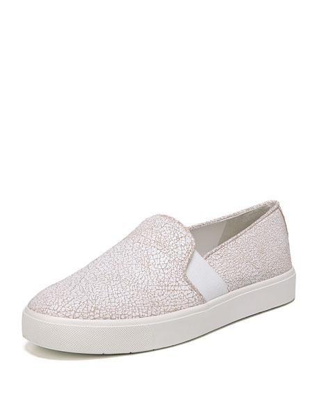 Vince Women's Blair-12 Patent Leather Slip-On Sneakers In White