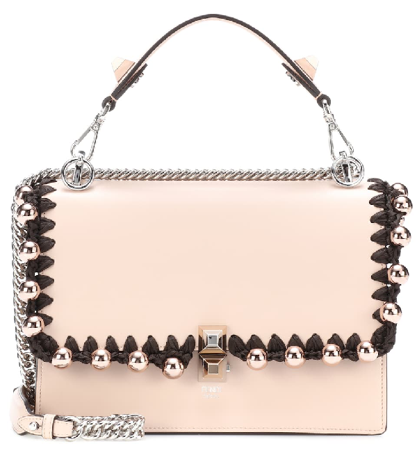 Fendi Kan I Medium Liberty Calf Shoulder Bag In Pink