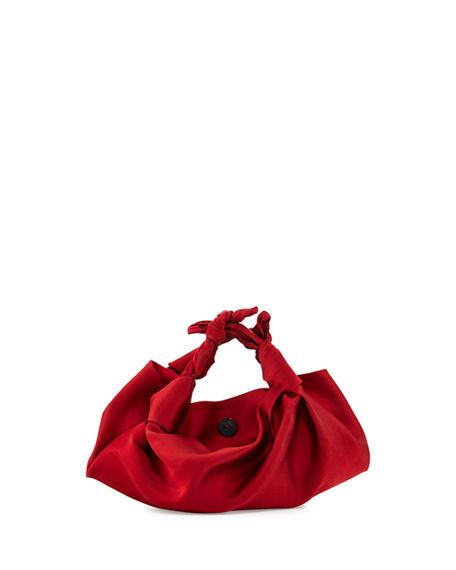 The Row The Ascot Small Satin Hobo Bag In Medium Red  2d5e19693a2a2