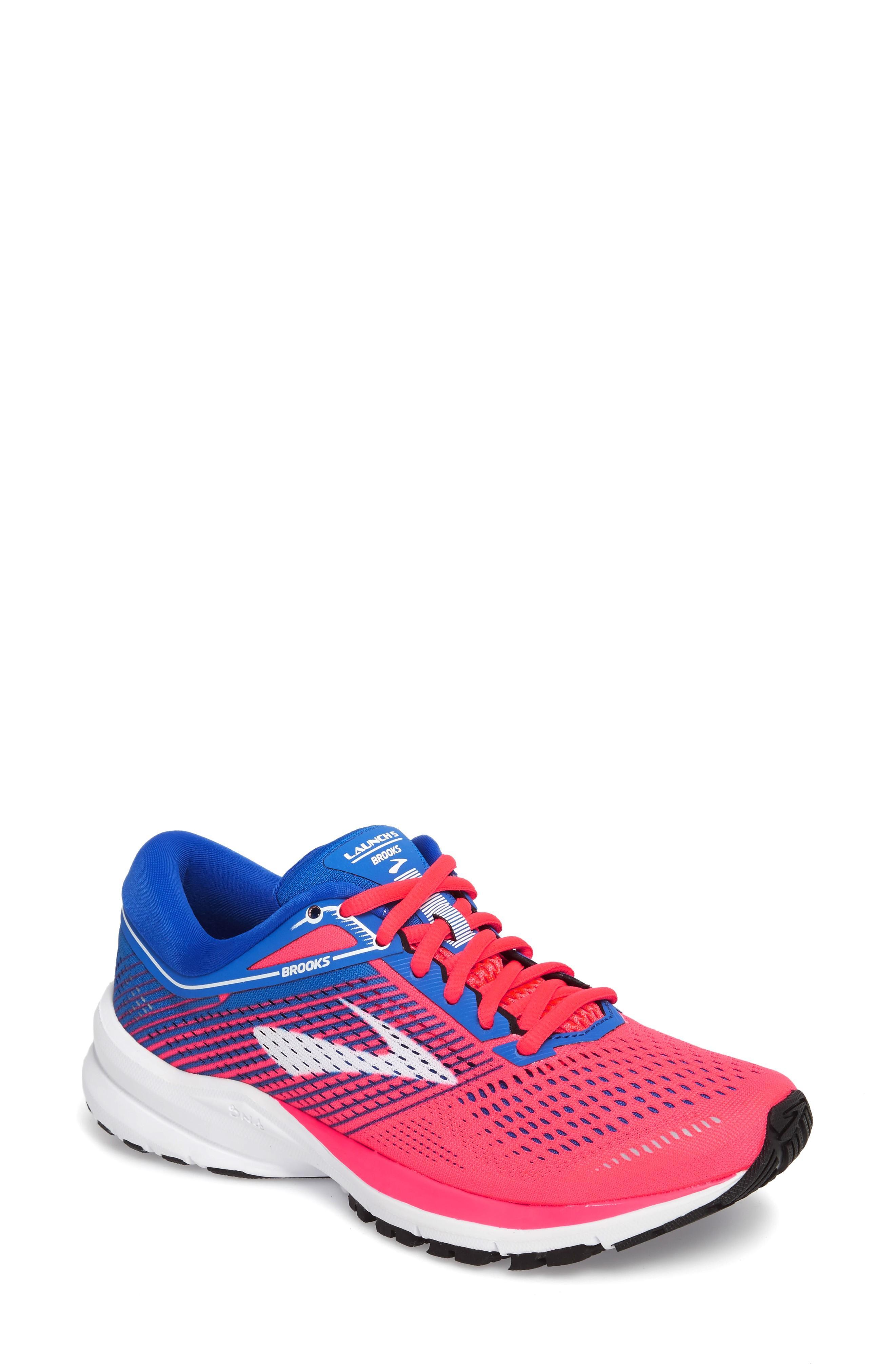 e1885412b56 Brooks Launch 5 Running Shoe In Pink  Blue  White