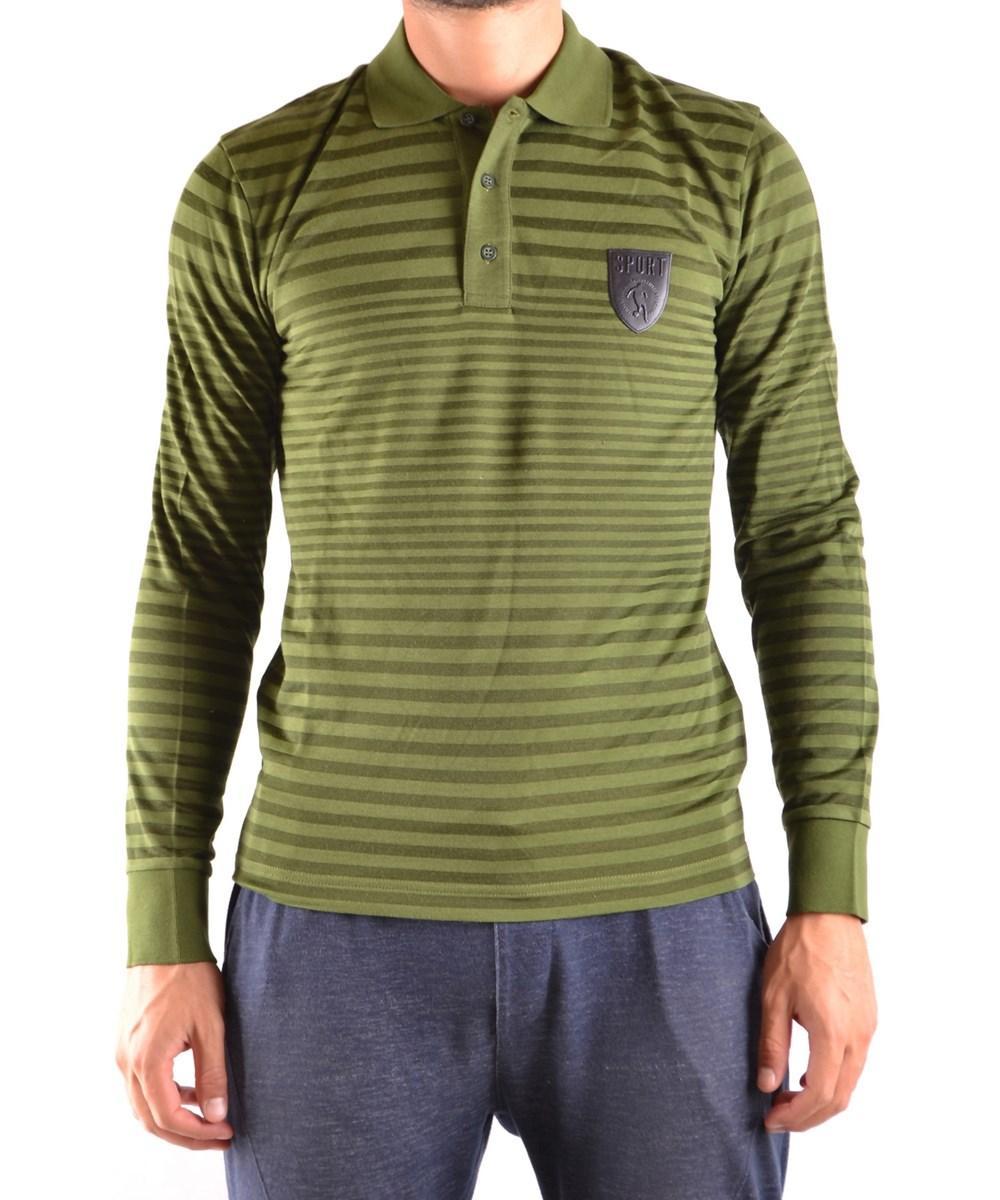 Bikkembergs Men's  Green Cotton Polo Shirt