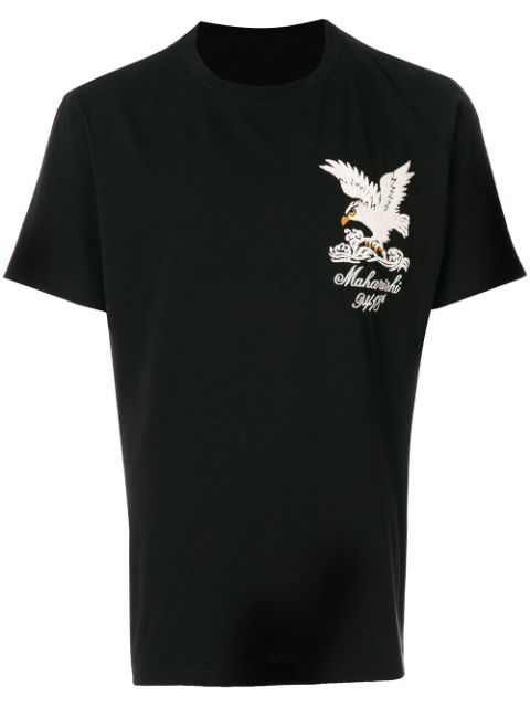 eae4b480c3 Maharishi Eagle Embroidered Cotton Jersey T-Shirt In Black | ModeSens