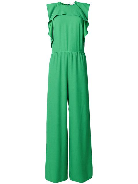 12420ada08 Red Valentino Frill Detail Sleeveless Jumpsuit - Green