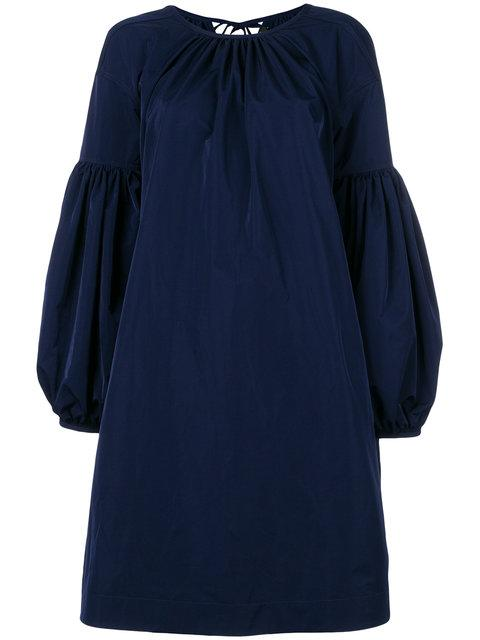 Calvin Klein Bell-Sleeved Dress In 404 Blue