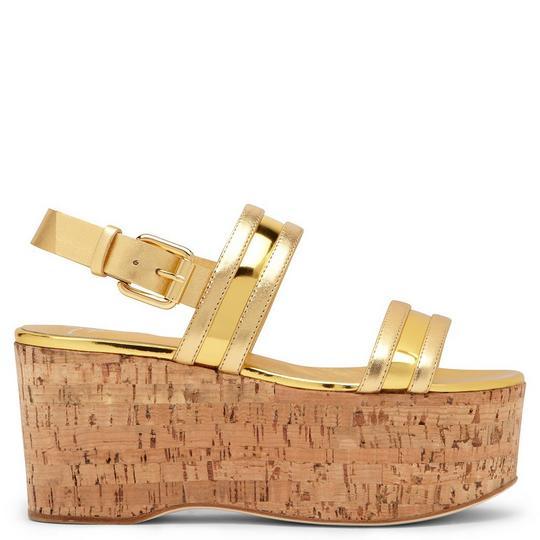 Giuseppe Zanotti - Gold Pathent Leather Wedge Jouet
