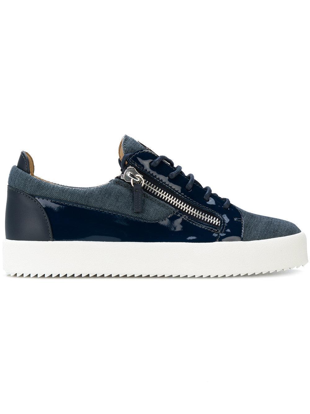 Giuseppe Zanotti - Chenille Low-Top Sneaker Frankie In Blue