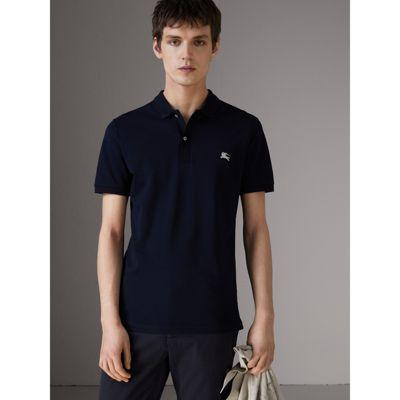 Burberry Cotton PiquÉ Polo Shirt In Navy