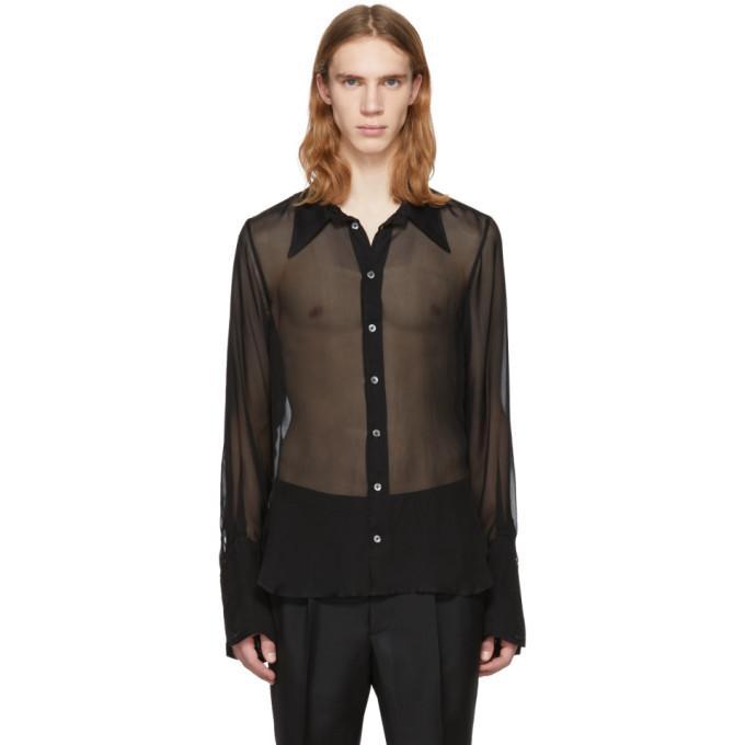 Ann Demeulemeester Black Boundless Shirt In 099 Black