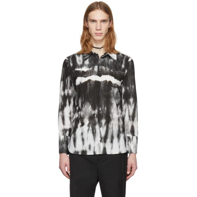 Ann Demeulemeester White And Black Alex Tie-Dye Shirt In 002 Wht Blk